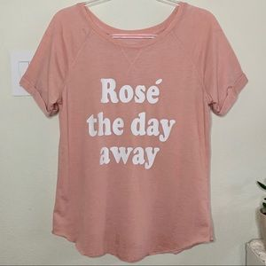 Rosé Graphic Sweater Tee